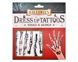 Halloween 2016 Dress Up Waterproof Temporary Tattoos - Bone