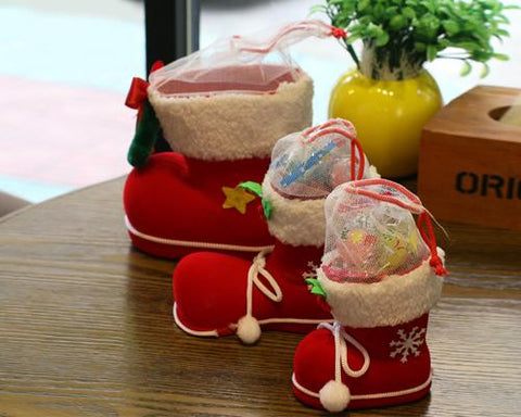 Christmas Ornament Boots Gifts Candy Bag