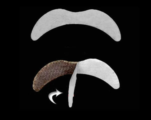 7 Pcs Fake Mustache Stickers Set for Costume Party - Black