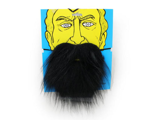 Self Adhesive Fake Mustaches Beard for Costume Party - Black