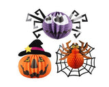 3 Pcs Halloween Party Decoration Round Paper Lantern - B