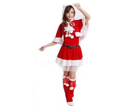 Women Christmas Costume Holiday Dress Set