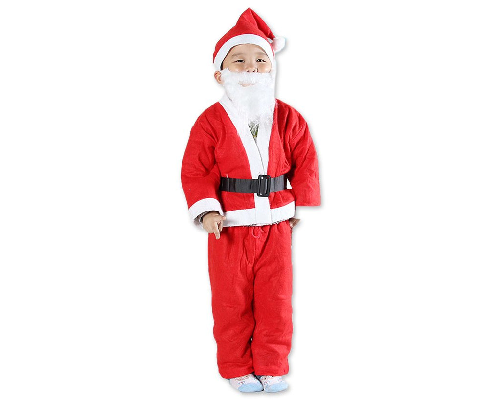 Child Boys Christmas Santa Claus Costume Suit Set