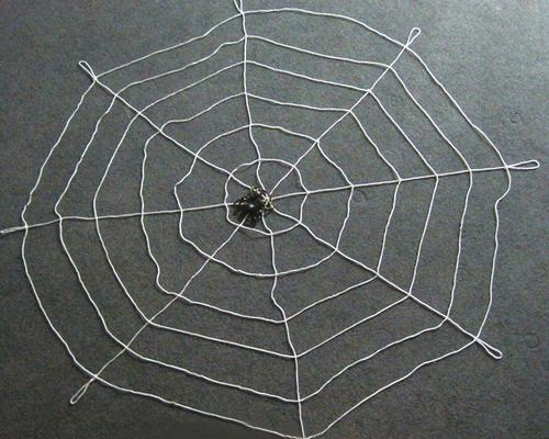 Halloween Party Decorations Bar 3.28ft Spider Web + Spider - White
