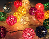 20 Rattan Balls String Light for Home Decoration