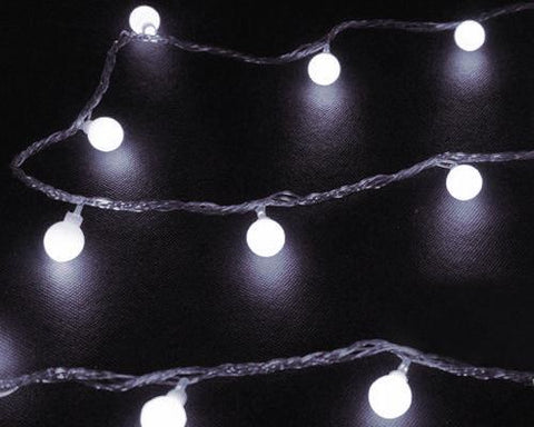 5M 50 Lamps 110V Festival Flashing LED String Light - White