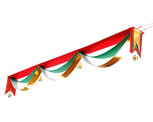 5M Wavy Flag Hanging Ceiling Banners for Christmas Decoration