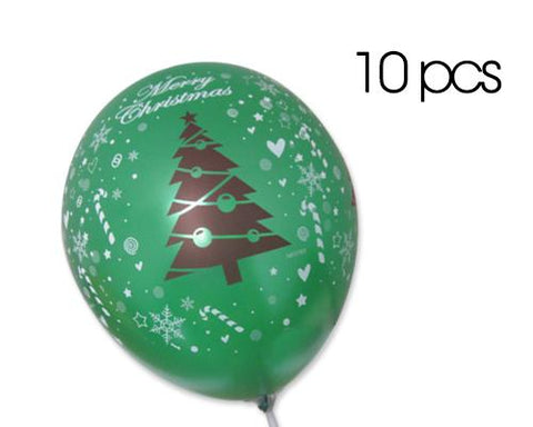 "10 Pcs 12"" Christmas Latex Balloons"