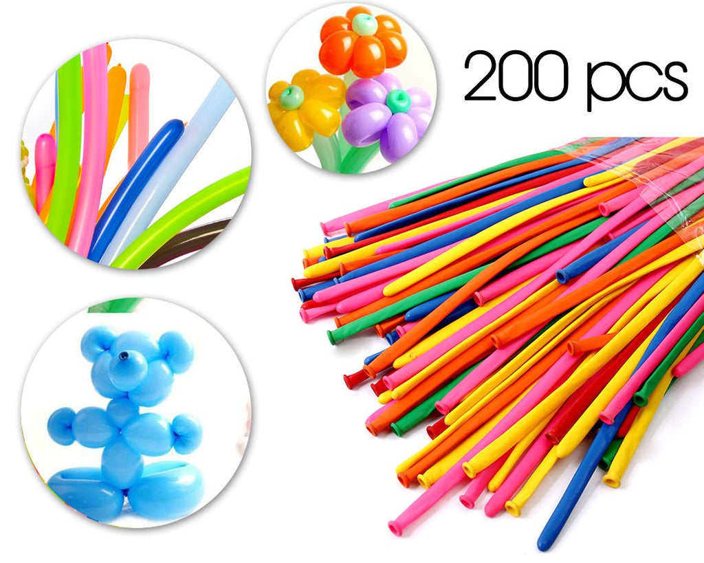 200 Pcs Party Decoration Color Twisting Balloons Pack