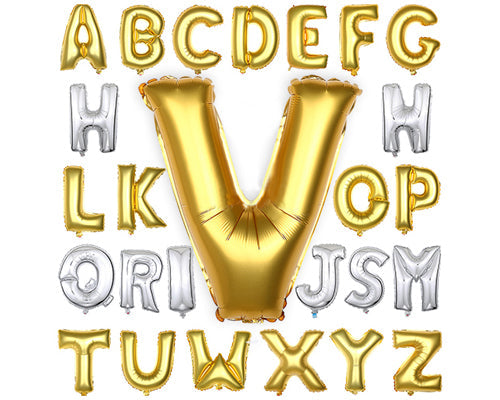 1 Piece 16'' A-Z Party Gold Letter Aluminium Foil Balloon