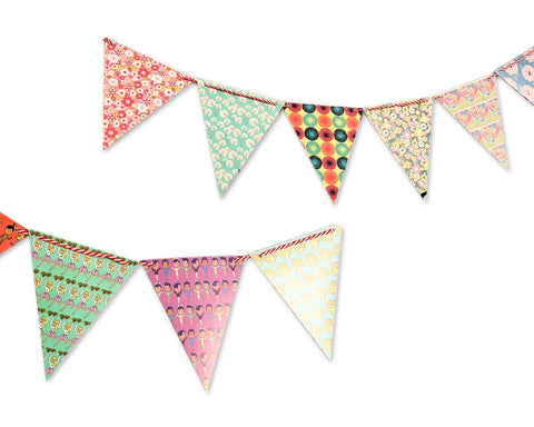 Paper Bunting Triangle Flag Banner for Party