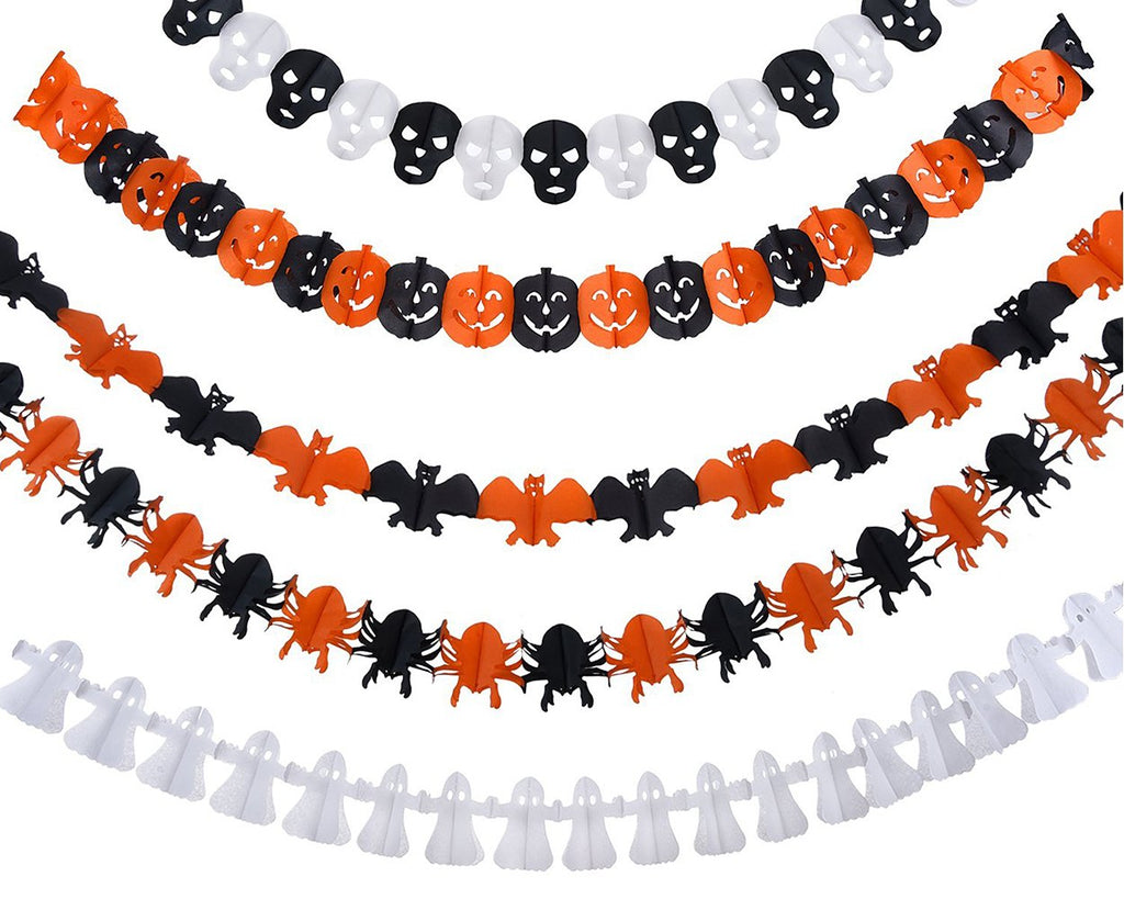 5 Pcs Halloween Theme Party Props Decoration Pennant Banner