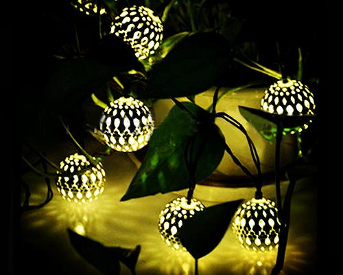 20 LED Moroccan Solar String Lights