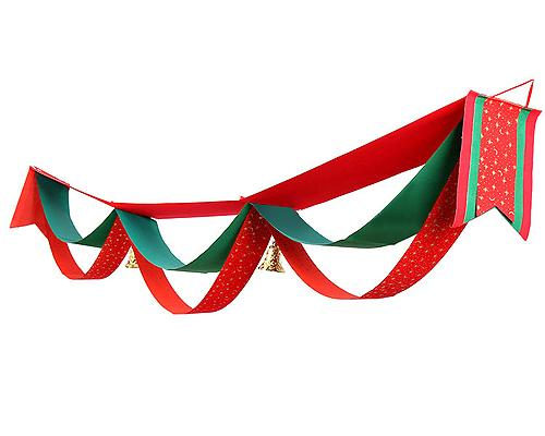 3 Meter Christmas Wave Hanging Flags with Bells