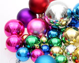 36 Pcs Multi-Color Christmas Painted Ball Ornaments