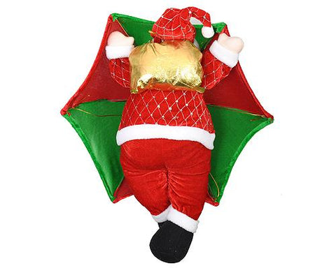 Santa Claus in Parachute Christmas Hanging Decoration