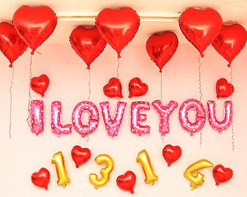 I Love You Series Decorative Foil Balloon