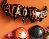 5 Pcs Halloween Party Decoration Bat Helium Foil Balloon Set