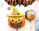 5 Pcs Halloween Party Decoration Pumpkin Helium Foil Balloon Set