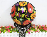 5 Pcs Halloween Party Decoration Balloon with Handle for Kids - Black