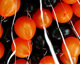 Black and Orange Latex Balloons Set with Air Pump for Halloween Party