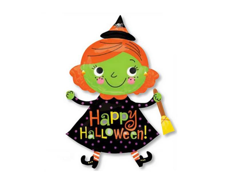 Halloween Party Decoration Witch Helium Foil Balloon