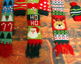 3 Pcs Christmas Winter Knitted Hat and Scarf Wine Bottle Cover