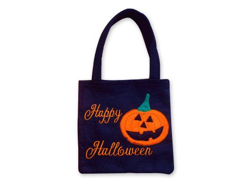 Halloween 2016 Costumes Trick or Treat Pumpkin Tote Handbag - Black