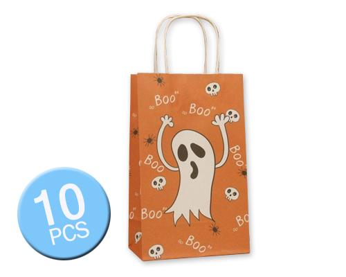 10 Pcs Halloween 2016 Party Favor Paper Gift Bags - Ghost and Skulls