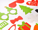 28 Pcs Christmas Party DIY Photo Booth Props on a Stick