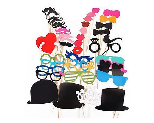 44 Pcs Party DIY Photo Booth Props on a Stick
