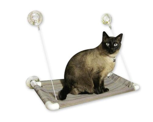 Comfortable Window Mounted Cat Bed with Suction Cup
