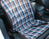 Comfort Series  Front Pet Dog Car Seat Cover - Checker Blue