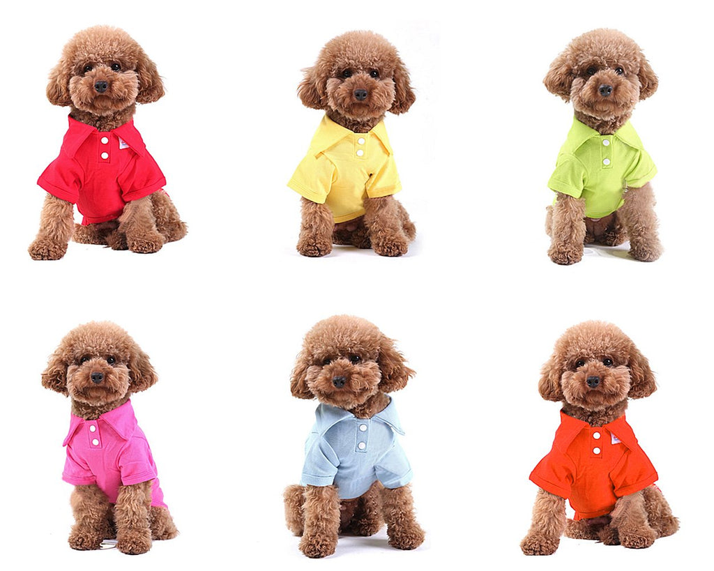Cute Series Pet Clothes Dog Polo Shirt