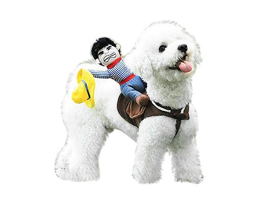 Western Riding Cowboy Pet Costume Dog Clothes with Hat