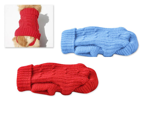 Knitwear Series Pet Dog Turtleneck Clothes Small Vest Sweater