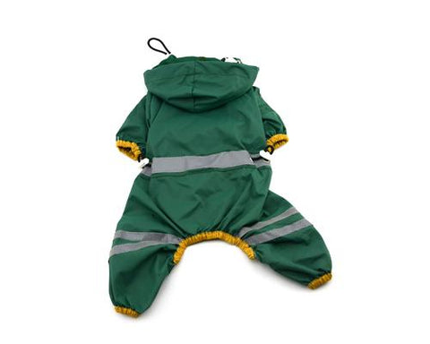Waterproof Dog Raincoat Stripe Pattern Pet Poncho