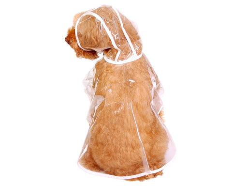 Waterproof Transparent Puppy Dog Rain Jacket Poncho