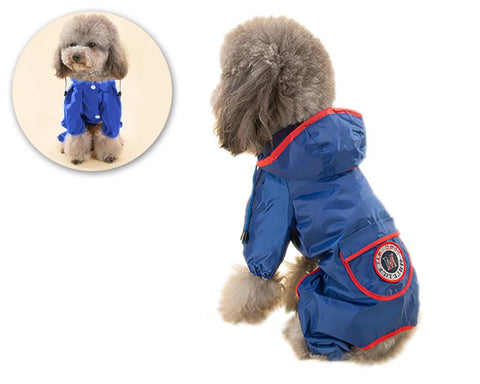 Waterproof Dog Raincoat Rain Jacket with Pocket
