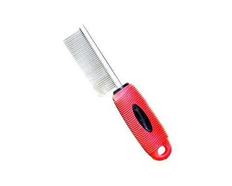 Stainless Steel Pet Grooming Comb with Handle
