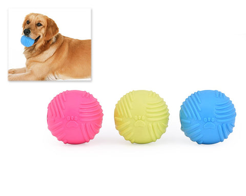 3 Pcs Colorful Non-toxic TRP Plastic Sound Squeaky Pet Dog Chew Ball