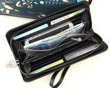 Exotic Skull Design Women Zipper Wallet - Black