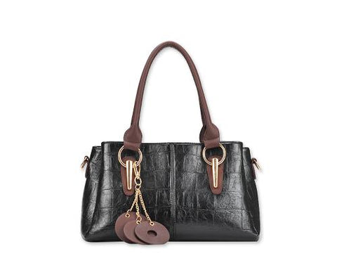 Krokodil Women Leather Shoulder Handbag