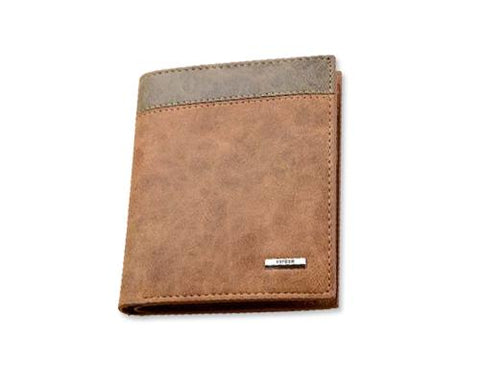 Stylish Mens Leather Bifold Wallet - Brown