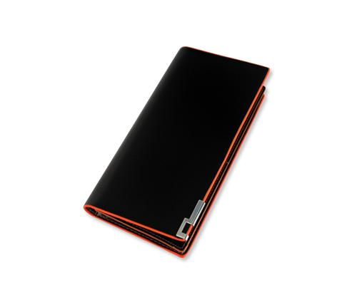 Simply Mens Long Leather Black Wallet