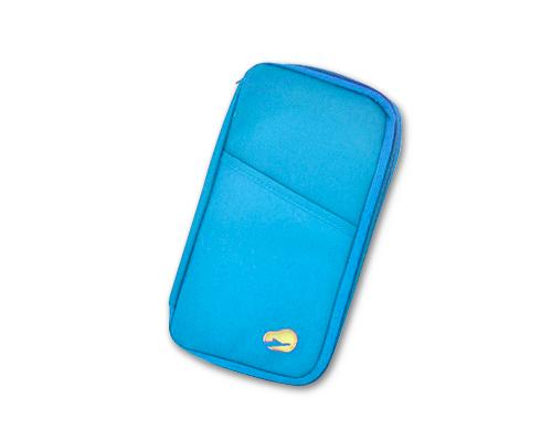 Multi-function Zipper Passport Wallet - Blue