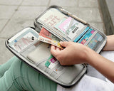 Multi-function Zipper Passport Wallet - Pink