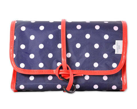 Foldable Travel Makeup Bag with Hook - Dot