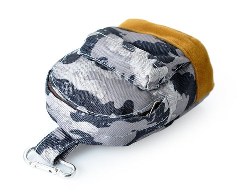 Mini Backpack Coin Purse - Gray Camo