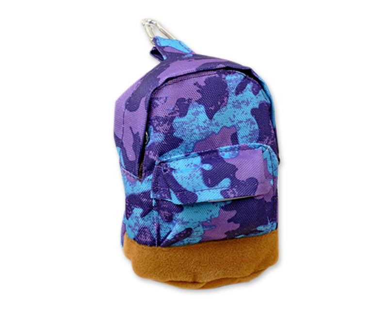 Multifuntional Mini Backpack Coin Purse - Purple Camo